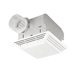Broan 678 - White Premium Exhaust Fan With Light, 50 CFM 2.5 Sones