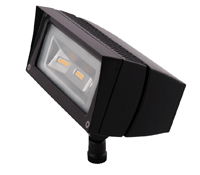 RAB FFLED18 - Rectangular shaped LED floodlight designed to replace 70W Metal Halide.