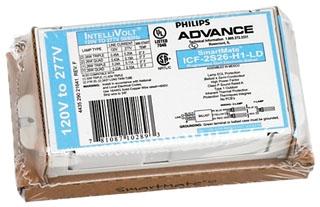 ADVANCE ICF2S13H1LDK : ELECTRONIC BALLAST 2 LAMP 13W CFL (4-PIN) 120-277V KIT