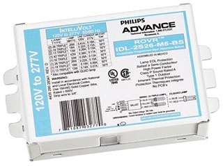 ADVANCE IDL2S26M5BS35M : ELECTRONIC DIMMING BALLAST 2 LAMP 26W CFL (4-PIN) 120-277V