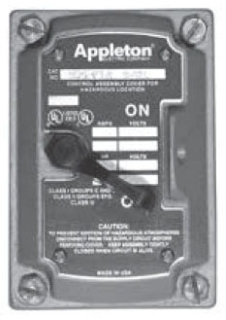 APPLETON EDSF12A 20A SP COVER CHAMF SW