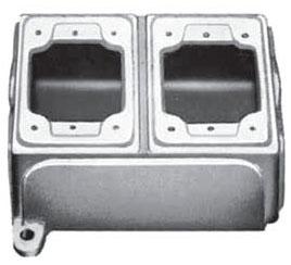 APPLETON FDB-2L-A 2G ALUM FD BOX W/LUGS