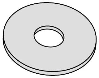 BLINE 3/8X1-1/2-FFW-ZN FLAT FENDER WASHER, 3/8-IN. X 1 1/2-IN., ZINC PLATED