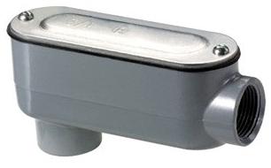 "Bridgeport LB-41CG 1/2"" Aluminum Type LB Conduit Body with Cover & Gasket for Rigid/IMC Conduit"