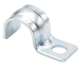 "Bridgeport 901-S 1/2"" Steel 1-Hole Pipe Strap for Rigid/IMC Conduit"