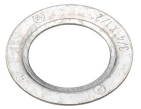 "Bridgeport 1061 3/4""-1/2"" Galvanized Steel Reducing Washer for Rigid/IMC Conduit"
