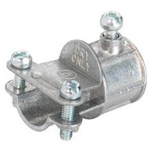 "Bridgeport 280-DC Zinc Diecast Set Screw Combination Coupling 1/2"" EMT to 3/8"" Flexible Metal Conduit"