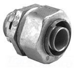"Bridgeport 437-LT2 3"" Zinc Die Cast Liquidtight Straight Connector. For use w/Metallic and Non-Metallic Liquidtight Conduit."