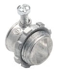 "Bridgeport 501-DC2 3/8"" Zinc Diecast Set Screw Armored and Metal Clad Cable Connector for 14/2 to 10/3 steel armored cable or 12/2 to 10/3 steel metal clad cable"