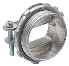 "Bridgeport 672-DC2 1"" Zinc Die Cast, Oval Cable, Two Screw, Strap Type Connectors. For Connecting Non-Metallic Cable to Box or Enclosure."