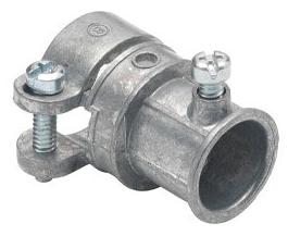 "Bridgeport 281-DC Zinc Diecast Set Screw Combination Coupling 1/2"" EMT to 1/2"" Flexible Metal Conduit"