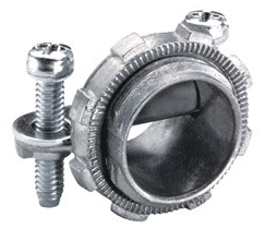 "Bridgeport 650-DC2 1/2"" Zinc Die Cast, Oval Cable, Two Screw, Strap Type Connectors. For Connecting Non-Metallic Cable to Box or Enclosure. The 650-DC2 is also listed for use with 18/3 to 12/3 SJO cord."