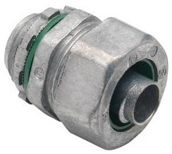 "Bridgeport 429-LT2 3/8"" Zinc Die Cast Liquidtight Straight Connector. For use w/Metallic and Non-Metallic 'Type B' Liquidtight Conduit."
