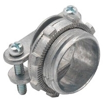 "Bridgeport 670-DC2 3/4"" Zinc Die Cast, Oval Cable, Two Screw, Strap Type Connectors. For Connecting Non-Metallic Cable to Box or Enclosure."