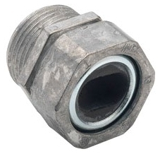 "Bridgeport 764-2 1-1/4"" Zinc Die Cast Watertight Service Entrance Cable Connector. Compression type connector which provides watertight seal around service entrance cable."