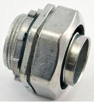 "Bridgeport 433-LT2 1-1/4"" Zinc Die Cast Liquidtight Straight Connector. For use w/Metallic and Non-Metallic 'Type B' Liquidtight Conduit."