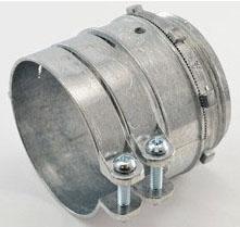 "Bridgeport 418-DC2 3"" Zinc Diecast Squeeze Connectors used to connect Flexible Metal Conduit to Box or Enclosure"