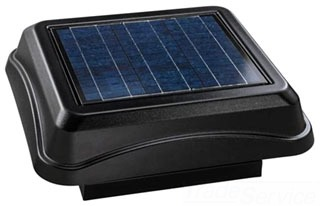 BROAN 345CSOBK SOLAR PAV, CURB MOUNT WITH BLACK DOME