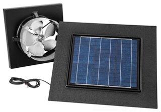 BROAN 345GOBK SOLAR PAV, GABLE MOUNT, WITH REMOTE MOUNT BLACK SOLAR PANEL Product Image