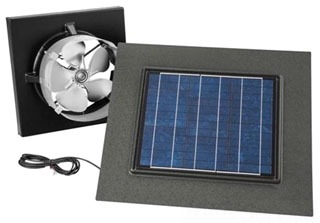 BROAN 345GOWW SOLAR PAV, GABLE MOUNT, WITH REMOTE MOUNT WEATHERED WOOD SOLAR PANEL Product Image