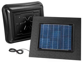 BROAN 345RSOBK SOLAR PAV, WITH BLACK DOME AND BLACK REMOTE MOUNT SOLAR PANEL Product Image