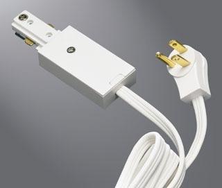 Halo lighting cooper track lighting gordon electric supply inc halo l950p white cordplug connector aloadofball Image collections