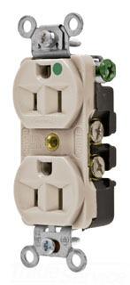 HUBBELL 8200AL 15A 125V DPLX RCPT