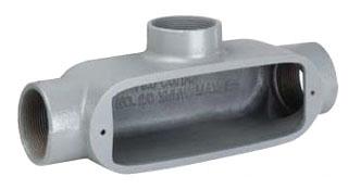 "Killark OT-6 2"" Aluminum Type T Conduit Body for Rigid/IMC Conduit"