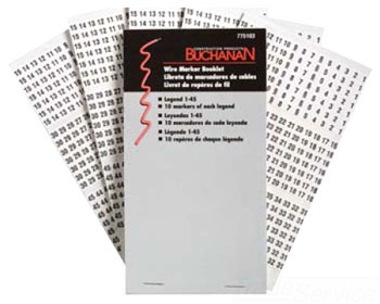 BUCHANAN 775101 WIRE MARKER 0-9