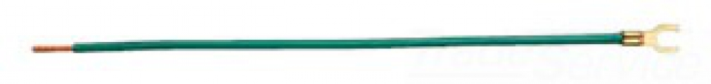 Ideal 30-3480 Green Pigtail Wire Connector. 12 AWG stranded 8 in. w/#10 fork & stripped end. Bag of 25.