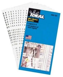 IDEAL 44-109 ASST WIRE MARKER BOOK