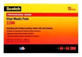 3M 2200-3-1/4X4-1/2 MASTIC PAD