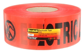 3M 302 3INX1000FT RED CAUTION TAPE