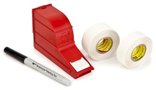 3M SLS WRITE-ON TAPE W/DISPENSER