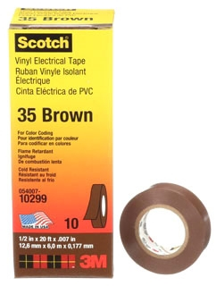 3M 35-BROWN-1/2 1/2X20FT CODING TPE