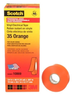 3M 35-ORANGE-3/4X66FT CODING TAPE