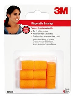3M AS 90580-00000T 3M DISPOSABLE CLASSIC EARPLUGS Product Image