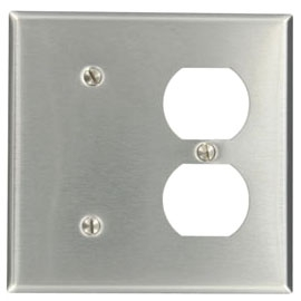 Leviton Mfg Co. Leviton 84087-40 Ss 1Blank&Dplx Rcpt Pl at Sears.com