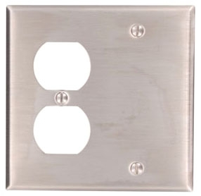 Leviton Mfg Co. Leviton 84008-40 Ss 1Dplx Rcpt&Blank Pl at Sears.com