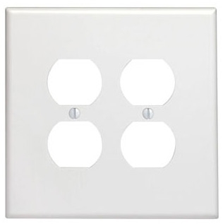 LEVITON 85116 : 2 GANG BROWN OVERSIZE DUPLEXRECEPTACLE PLATE