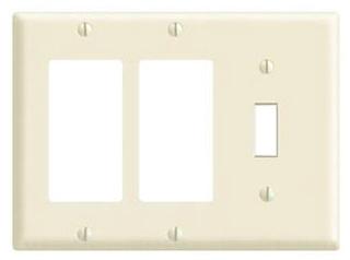 Leviton Mfg Co. Leviton 80731-W 3G Wht Nyl Comb Plate at Sears.com