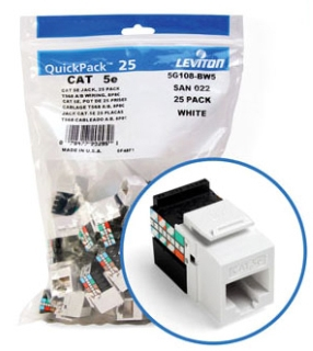 Leviton Mfg Co. Leviton 5G108-Rw5 Wht Snap-In Jack at Sears.com