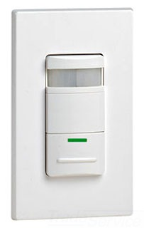 Leviton ODS10-IDI Decora Ivory Passive Infrared(PIR) Occupancy Sensor. Incandescent: 800W @ 120V. Fluorescent: 1200VA @ 120V, 2700VA @ 277V. Motor Load: 1/4HP @ 120V. Coverage: 2100 Sq.Ft. Pattern: 180 deg. (Decora wallplates sold separately)