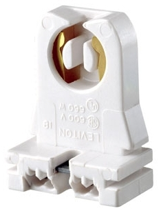 LEVITON 13353-N : SLIDE-ON FLUORESCENT LAMPHOLDER
