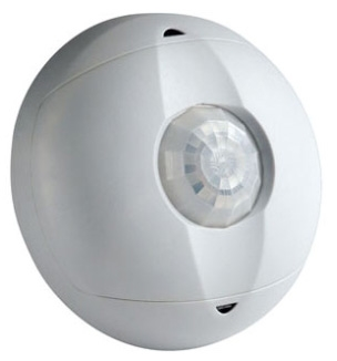 Leviton OSC15-I0W White Passive Infrared Occupancy Sensor w/Ambient Light Override and Seconday Relay. Ceiling-Mounted, Self-Adjusting. Coverage: 1500 SqFt. Pattern: 360 deg. (For use with Leviton Power Pack OSP20, sold separately)