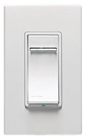 Leviton VPI06-1LZ 600w Incandescent Dimmer; Single Pole or 3-Way; Changeable Face Plates-White, Ivory or Light Almond