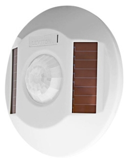 Leviton WSC04-IRW Self-Powered Wireless Passive Infrared Occupancy Sensor. Coverage: 450 Sq.Ft. Frequency/Range: 315 MHz/50-150 ft. Solar Powered, Battery for backup(not required). For use with Leviton Wireless Receiver Switch WSS10-GDZ or Leviton WST05 3-Wire Receivers (sold separately).