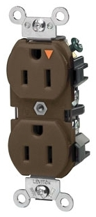LEVITON 5262-IGB : ISOLATED GROUND BROWN DUPLEXRECEPTACLE-N5-15R