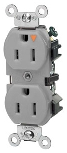 LEVITON 5262-IGG : ISOLATED GROUND GRAY DUPLEXRECEPTACLE-N5-15R
