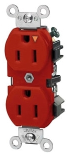 LEVITON 5262-IGR : ISOLATED GROUND RED DUPLEXRECEPTACLE-N5-15R